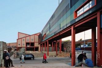 Una visione all'esternio dell'Alexandra Interpretation Centre