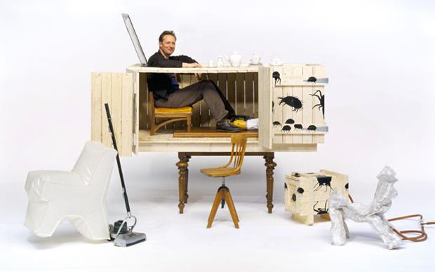 Il designer Jurgen Bey insieme all'architetto Rianne Makkink. Nel 2002 hanno fondato a Rotterdam lo Studio Makkink & Bey