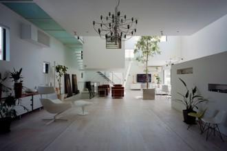 La casa progettata a Tokyo dallo studio Number 555 si presenta come un ampio open space
