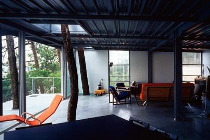 Casa sugli alberi: l'interno affaccia direttamente sul bosco. La celebre casa è attraversata dai tronchi. La location è a Cap Ferret. Costruita nel 1998 ha avuto un costo complessivo di 123.000 euro
