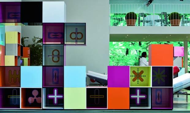 Addizionabile Più scatole cubiche (lato cm 40) in laminato plastico lucido