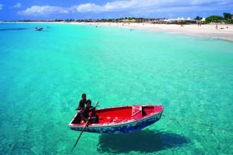 Una spiaggia di Cabo verde