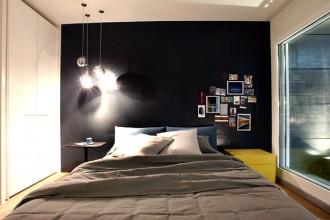 La stanza da letto nella casa Rinascimento: un esempio di come i costi contenuti possano conciliarsi con senso estetico e personalizzazione degli ambienti.