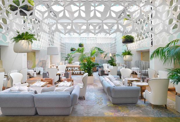 L'area lounge del ristorante Blanc