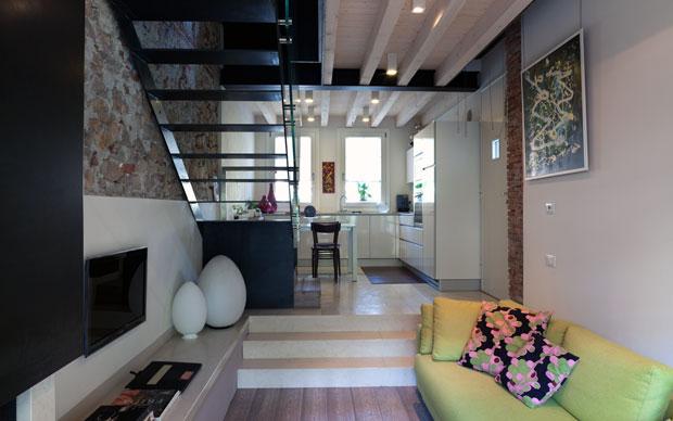 Economia di spazi livingcorriere for Appartamenti a 2 livelli