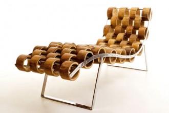 Il designer israeliano Ezri Tarazi ha creato una foresta domestica di totem di bambù