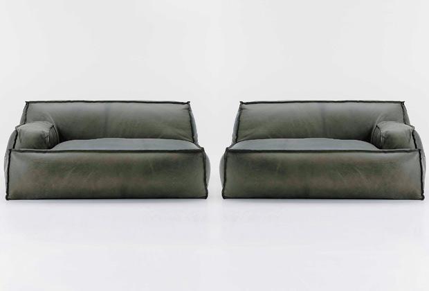 Il divano di pelle riciclata Damasco