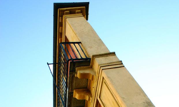 La nuova sede della Galleria Franco Noero nello storico edificio conosciuto come Fetta di Polenta