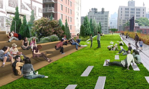 Si chiama Highline il parco sopraelevato che attraversa Manhattan.  Firmato da Diller Scofidio + Renfro