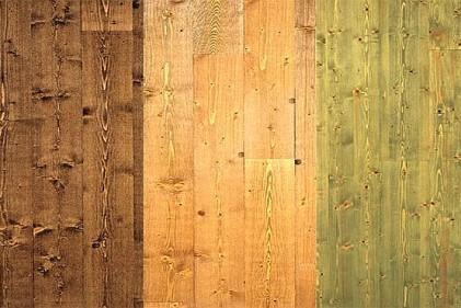 Le finiture di colore esaltano la bellezza del legno di abete trattato a olio (fiemme 3000
