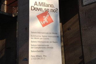 Lo slogan pubblicitario dei Saloni 2012 è: A Milano. Dove