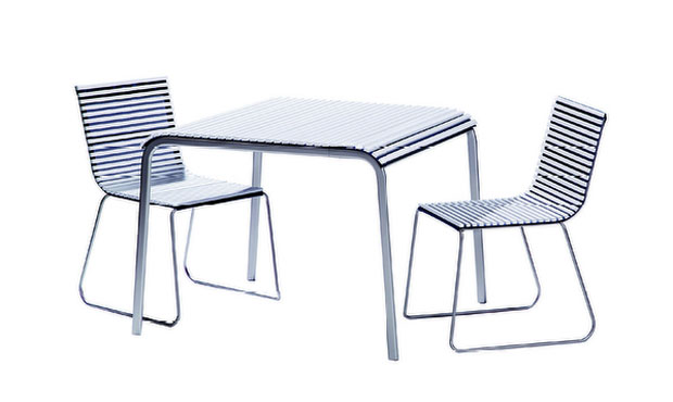 Il tavolo e le sedie Take Away di Pircher