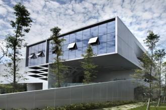La facciata dell'edificio