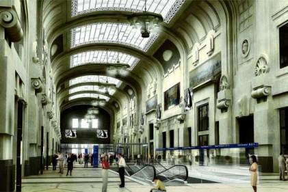 Galleria tecnologica. La monumentale galleria della stazione con le antiche volte vetrate