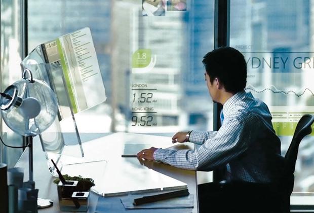 Un'immagine del progetto Office Labs Future Vision di Microsoft