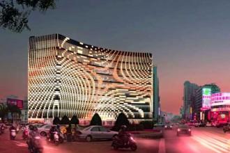 Il render illustra l'inserimento urbano del centro commerciale
