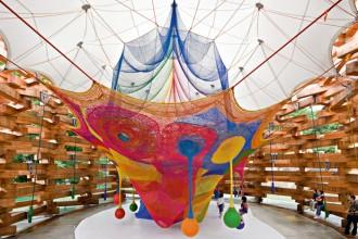 Woods of Net è un padiglione permanente al Hakone Open-Air Museum