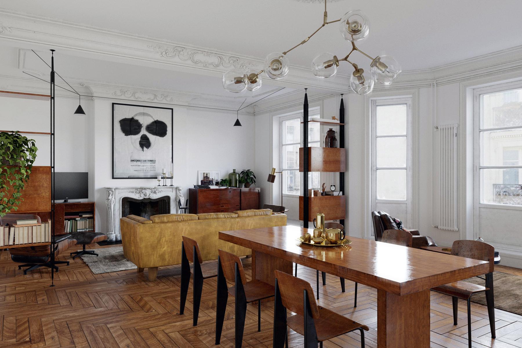 Arredamento Moderno Antico Insieme un appartamento classico neo-borghese