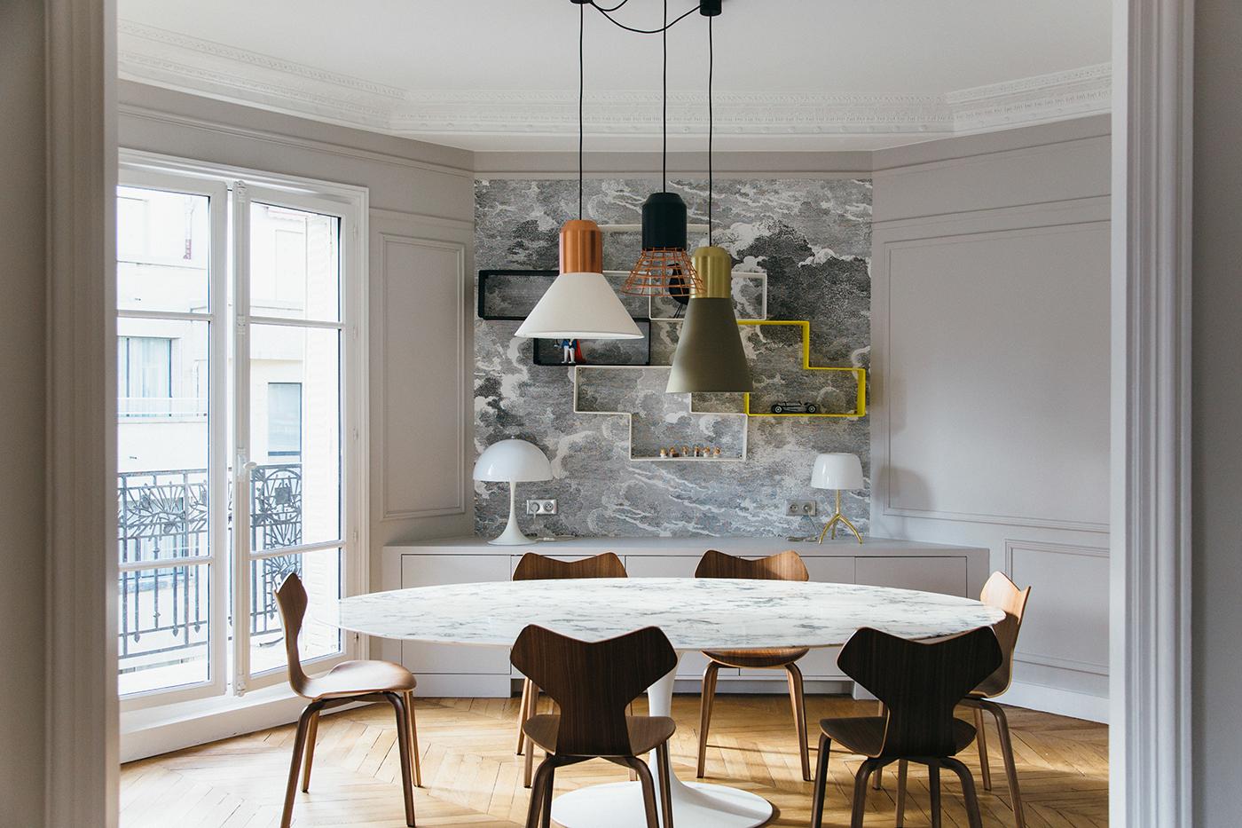 Reinventare un appartamento classico a parigi for Interni appartamenti parigini