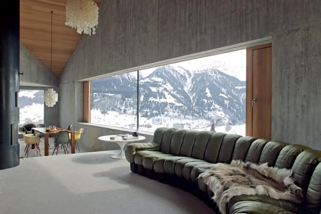 Chalet contemporaneo in svizzera living corriere for Arredamento casa di campagna
