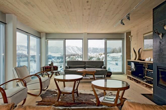 Sulla neve living corriere for Foto di case arredate
