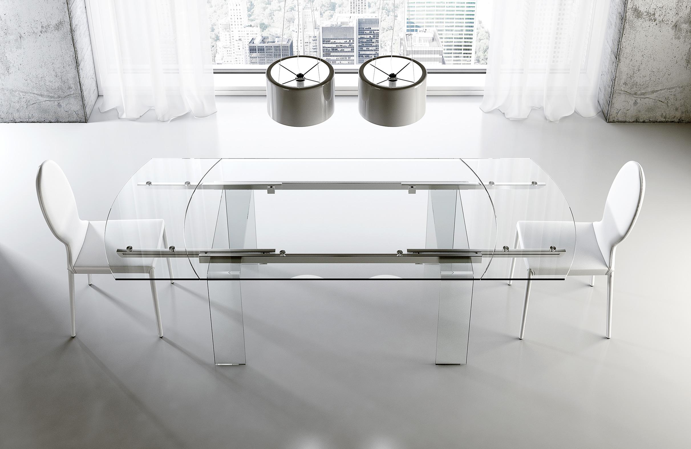 Tavoli di vetro foto 1 livingcorriere - Tavolo riflessi living prezzo ...