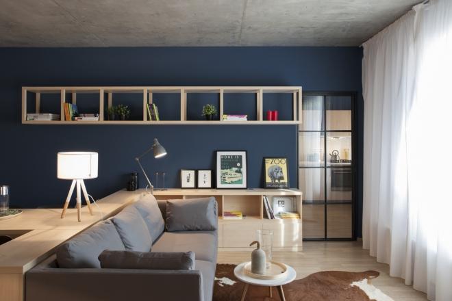 50 mq con cucina e camera da letto a vista - Living Corriere