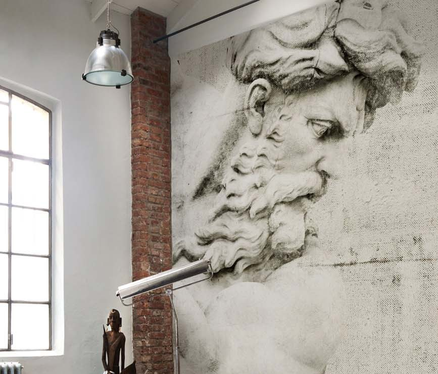 Lo showroom wall dec a milano living corriere for Prezzo carta da parati wall and deco