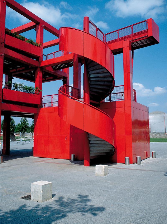 Watchtower in the Parc de la Villette, Paris