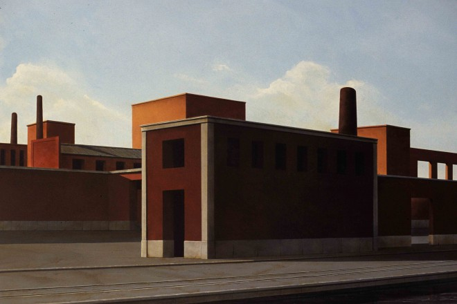 A. Cantafora, domenica, 2006, 80x120 cm, vinilico e olio su tavola_low