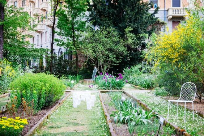 Piero Lissoni crea un giardino geometrico in Brera