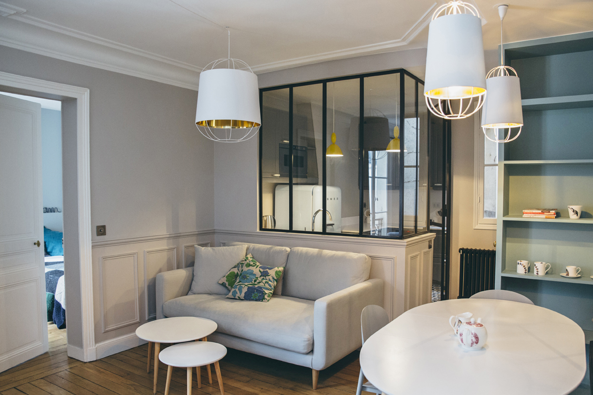 Pied terre per quattro a parigi living corriere for Design e arredamento