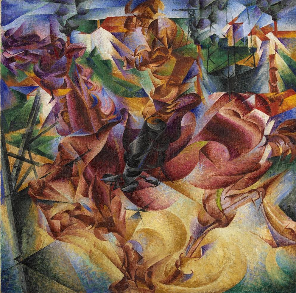 Boccioni Umberto Elasticità 1912 olio su tela cm 100x100 coll. Jucker.jpg