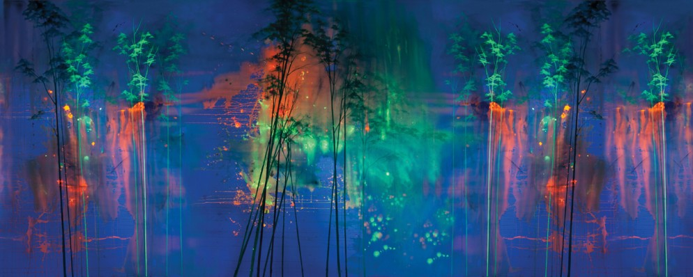 ellipopp+katalips-full repeatable mural-'come closer and see-see into the trees'-nightversion