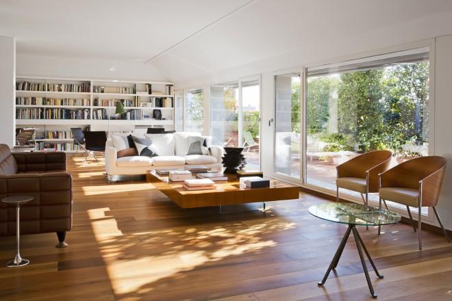 Attico con vista livingcorriere for Appartamento new design roma lorenz