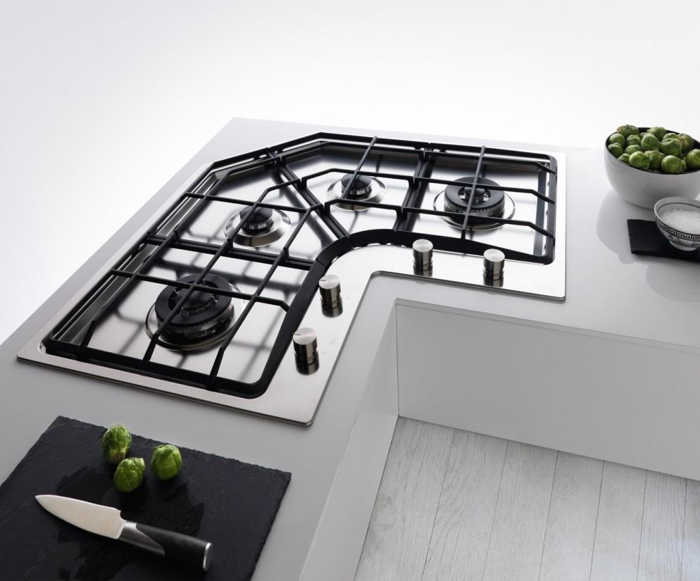 Piano Cottura Fragranite Grigio la cucina che sfrutta l'angolo - foto 1 livingcorriere
