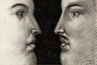 Fernando Botero, Figure (1992), matita su carta, 45x30 cm