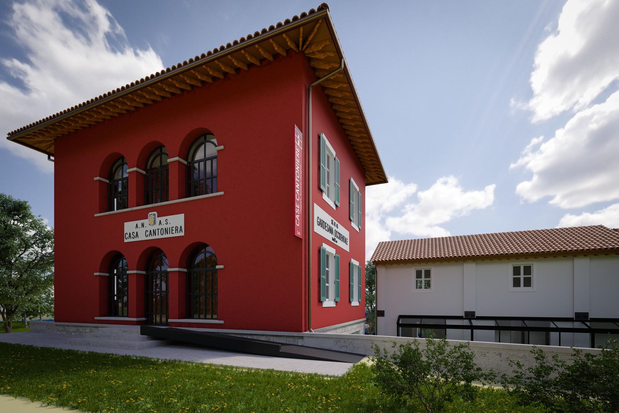 Il bando anas case cantoniere living corriere - Colori per esterno casa foto ...