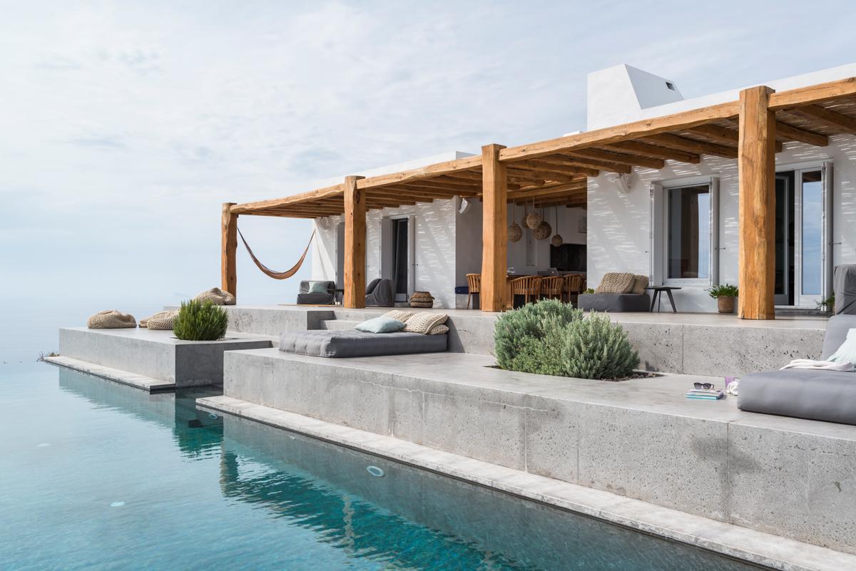 Casa vacanze a syros cicladi living corriere - Immagini case belle esterno ...