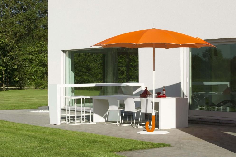 Canvas patio umbrella / aluminum / for professional use