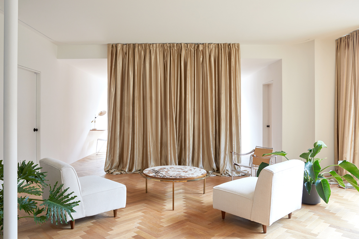 Tende Sala E Cucina dividere le stanze senza muri: foto case architetti - living