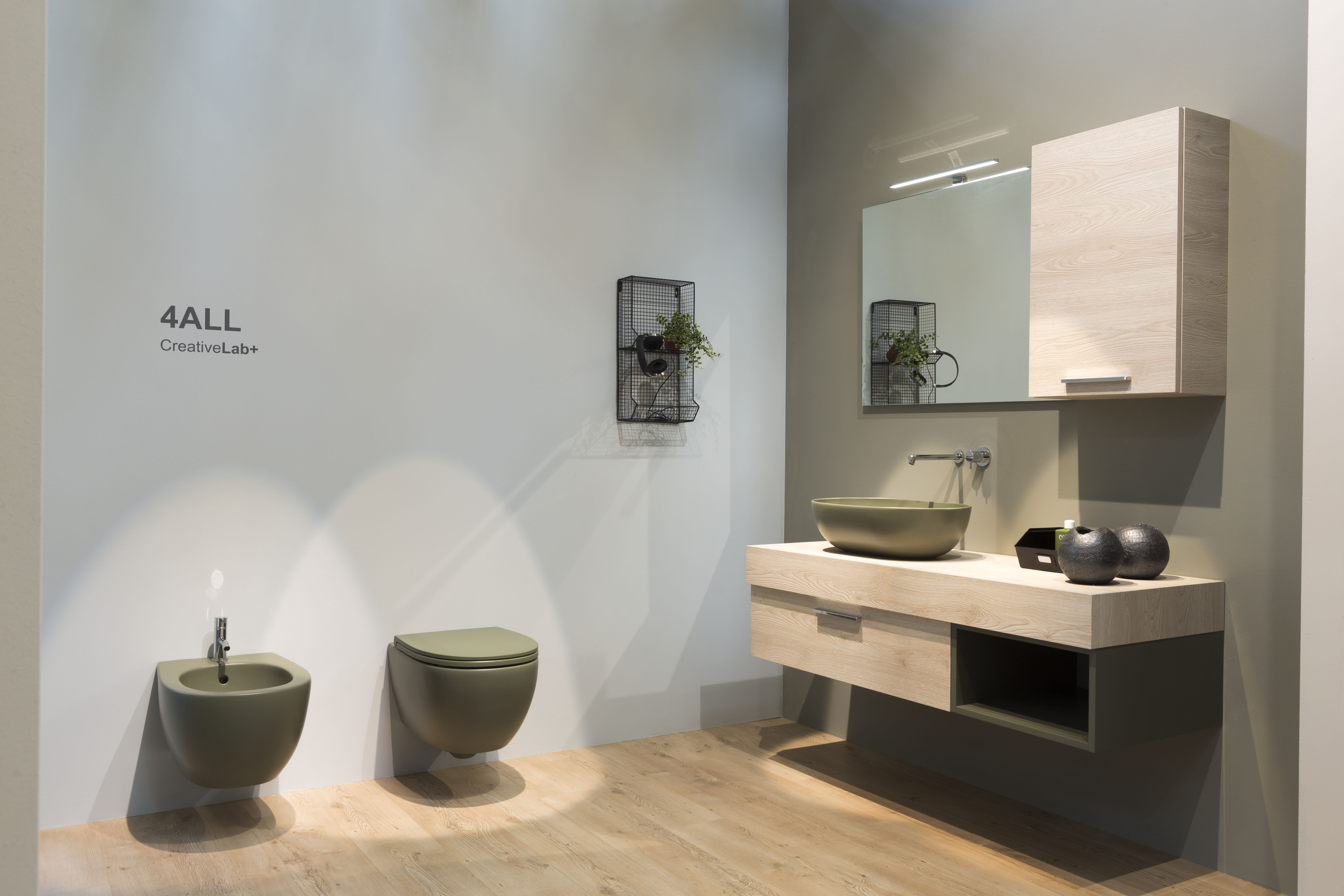 I lavabi integrati di ceramica globo a cersaie 2016 living corriere - Mobili bagno globo ...