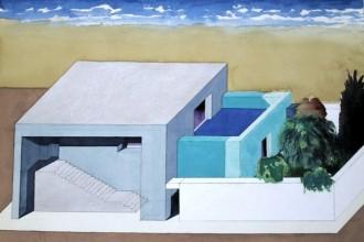 EttoreSottsass_Villa al mare (Mediterraneo) acquerello su carta cm. 46 x...