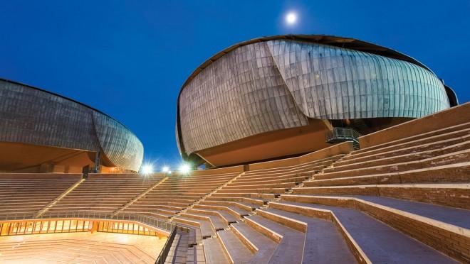 2002, Rome, Italy --- Auditorium Parco della Musica --- Image by © Marco Cristofori/Corbis