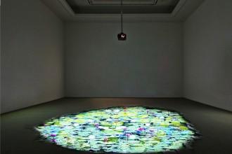 1. Michelangelo Bastiani, Giverny V, 2013, Videoproiezione interattiva, Courtesy Aria Art Gallery