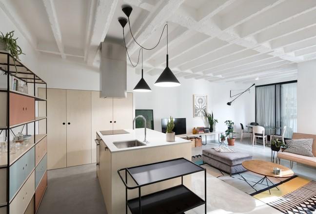 arredare un open space in stile minimal living corriere. Black Bedroom Furniture Sets. Home Design Ideas