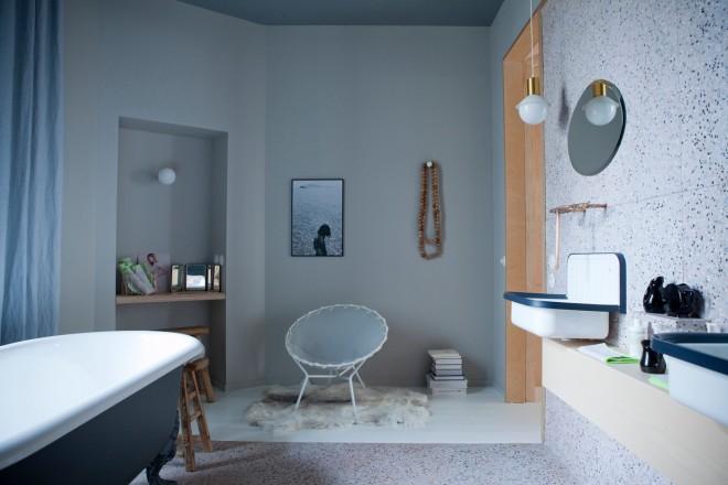 Piccolo Bagno Ufficio : Decorare le pareti del bagno livingcorriere
