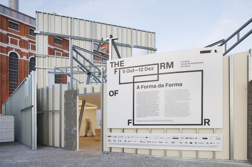 01. The Form of Form, veduta dell'installazione alla Lisbon Architecture Triennale 2016