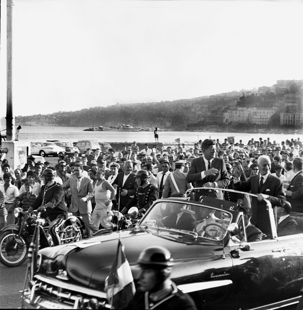 Il presidente americano Kennedy in visita a Napoli. 2 luglio 1963