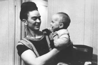 1939 NYC Frida with Her Godson low res